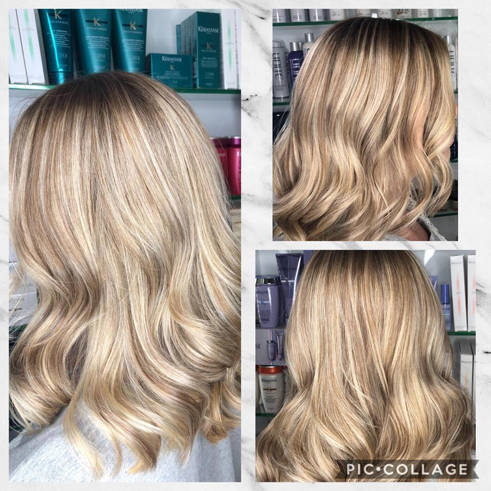 blonde hair at BeBaBo best hair salon in Harrogate
